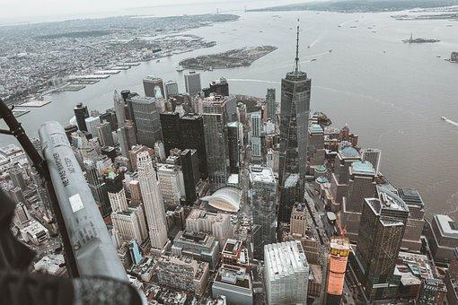 New York, Flynyon, Helicopter, Usa, Wtc, Manhattan