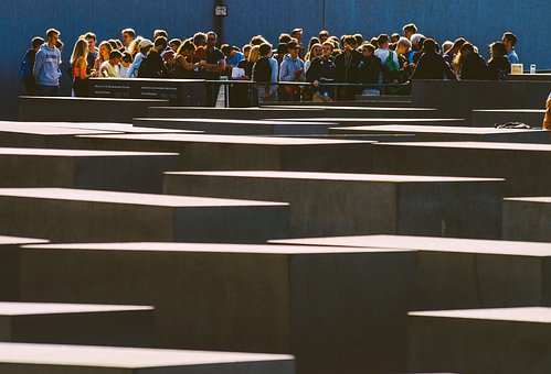 Memorial, Holocaust Memorial, Berlin, Group, Visitors