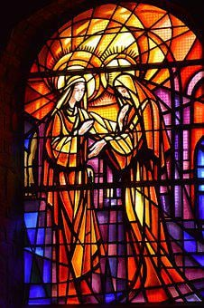 Stained Glass, Window, Church, Faith, Religion