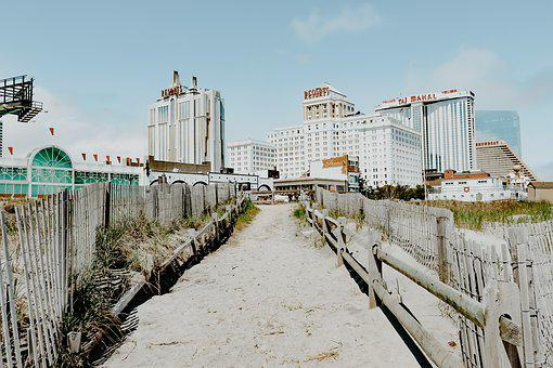 Atlantic City, New Jersey, Boardwalk, Beach, Casino
