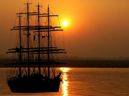 Sunset, Boat, Sailboat, Sea, Ocean, Sky, Twilight