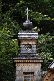 Wood, Wooden Tower, Russian, Russian Chapel, Chapel