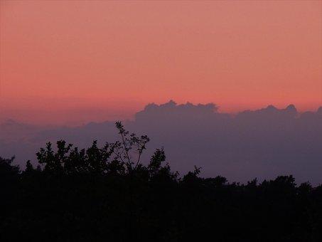 Sunset, Landscape, Sky, Evening, Twilight, Clouds