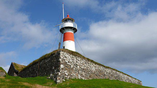 Lighthouse, Torshavn, Island, Faro Islands, Coastal