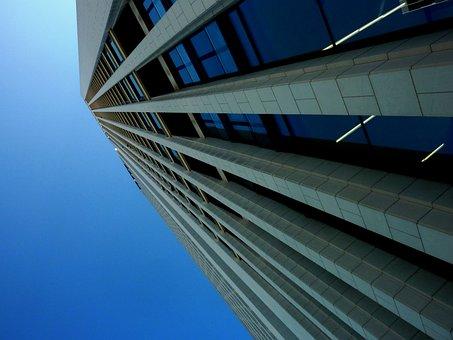 Architecture, Frankfurt, Ffm, Reflection, Pattern