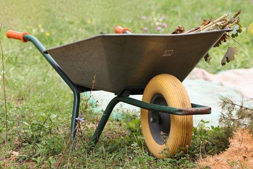 Wheelbarrows, Wheelbarrow, Grass, Collect, Recharge