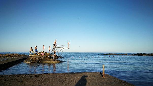 Summer, Sea, Ocean, Nature, Coast, Holiday, Sky, Blue