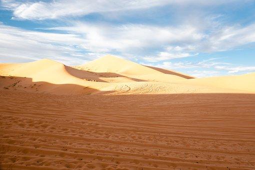Morocco, Sahara Desert, Desert, Merzouga Village