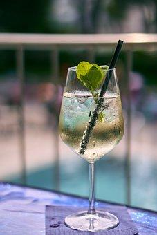 Drink, Alcohol, Glass, Wine Glass, Hugo, Mint
