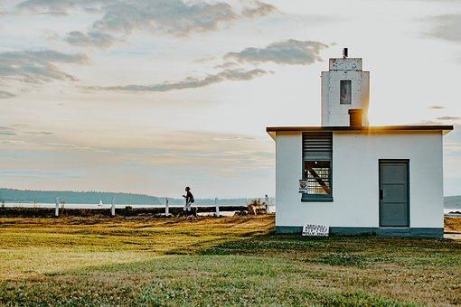 Beach, House, Lighthouse, Sea, Sand, Nature, Water