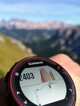 Alps, Mountain, Stopwatch, Altimeter, Altitude, Garmin