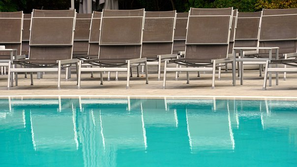 Sun Loungers, Pool, Vacations, Swimming Pool, Summer
