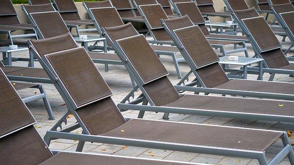 Sun Loungers, Pool, Vacations, Deck Chair, Fun Bathing