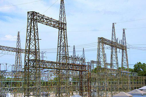 Electrical, Power, Distribution, Towers, High Voltage