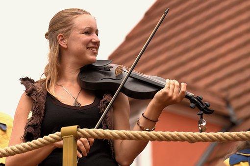 Violin, Woman, Musician, Instrument, Violinist