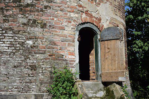 Old, A Historical, 17th-century, Historical, Door, Wall