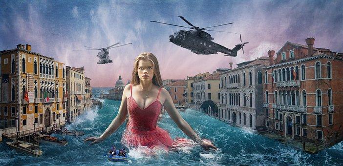 Venice, Woman, City, Water, Girl, Beauty, Swimming Pool