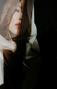 Beautiful, Woman, Portrait, Young, Female, Fashion