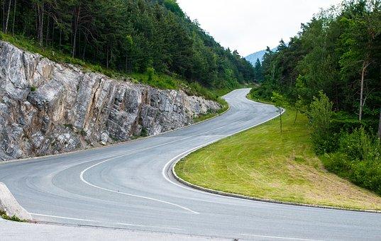 Road, Mountain Road, Asphalt, Alpine, Mountain Pass