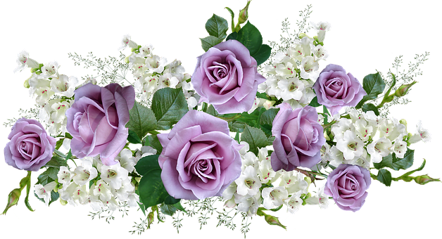Flowers, Mauve, Roses, White, Penstemons, Arrangement