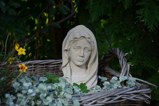 Madonna, Sand Sculpture, Statue, Sculpture, Art