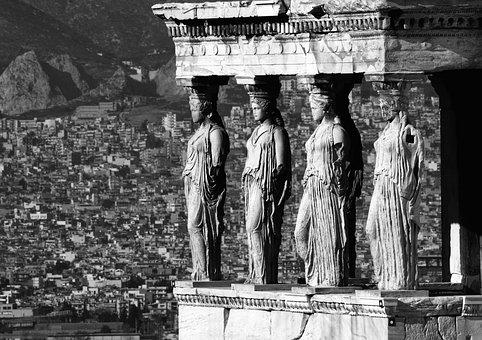 Caryatids, Athens, Parthenon, Acropolis, Ancient