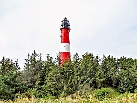 Lighthouse, Beacon, Daymark, North Sea, Island Of Sylt