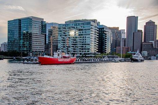 Boston, Boston Skyline, Skyline, Waterfront