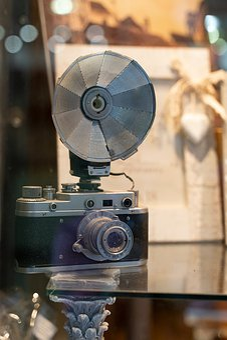 Camera, Flash, Vintage, Analog