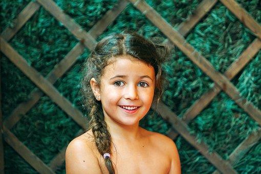 Girl, Laughter, Happy, Joy, Smiling, Portrait, Children