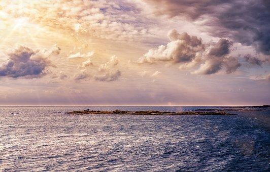 Trueb, Sky, Clouds, Cloudiness, Sun, Sunbeam, Water
