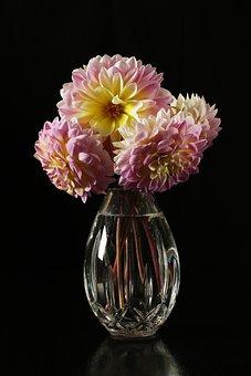 Dahlias, Dahlias In A Vase, Flowers, Flowers In A Vase
