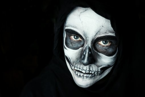 Halloween, Make Up, Scary, Skull, Dark, Creepy