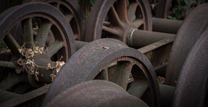 Railway Wheels, Spoke Wheel, Historically, Rusted