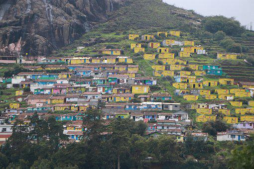 Ooty, Buildings, Yellow, Architecture, House, Mountain