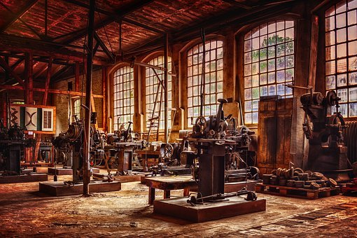 Factory, Nostalgia, Machines, Past, Industry, Old