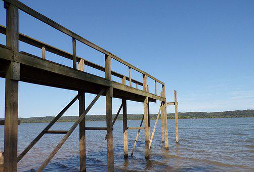 River, Water, Lake, Dock Pier, Dock, Nature, Blue