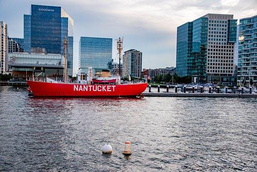 Boston, Boston Skyline, Waterfront, Massachusetts