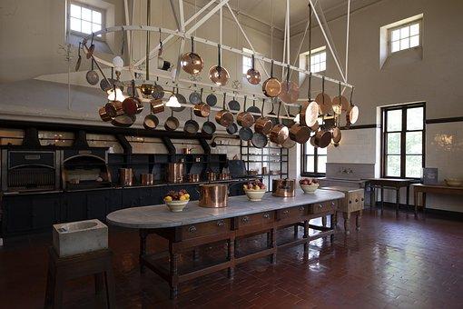 The Breakers, Kitchen, Mansion, Pots, Pans, Tile, Chef