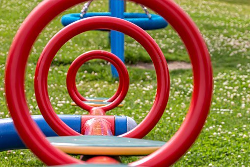 Rings, Metal, See Saw, Children's Playground