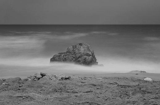 Fuertefentura, Sea, Rock, Beach, Water, Stones, Bank