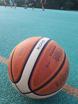 Basketball, Court, Streetball, Sport, Tartan, Play