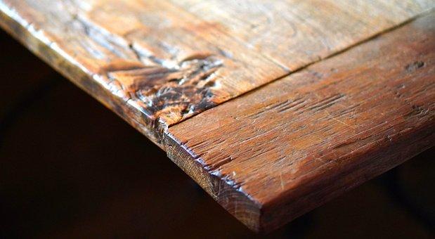 Table Corner, Table, Wood, Old