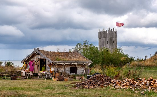 Building, House, Castle, Fortress, Wooden Castle
