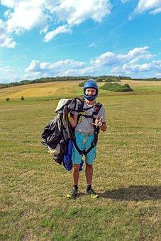 Skydiving, Fun, Parachute, Sky, Sport, Adventure