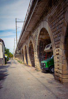 Street, Camper, Collection, Automobile, Old, Bridge