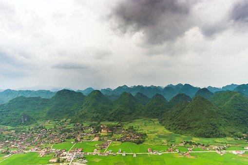 Bac Son, Rice, Field, Valley, Vietnam
