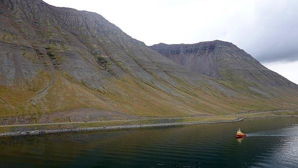 Tug, ísafjörður, Ship, Water, Boat, Vessel, Coast