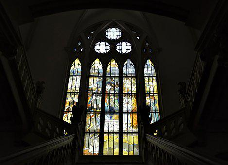 The Stained Glass Windows, Windows, Interior, Building