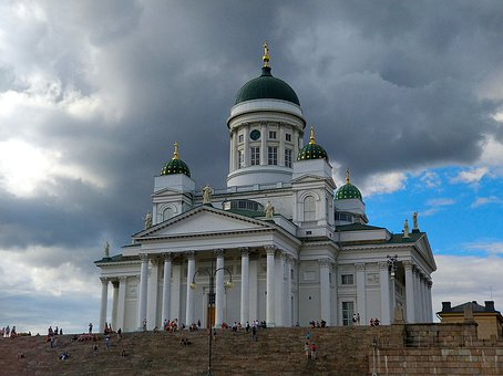 Helsinki, Temple, Building, Cathedral, Scandinavia, Old
